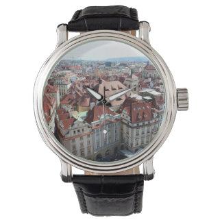 View of capital city of Prague in Czech Republic Watch