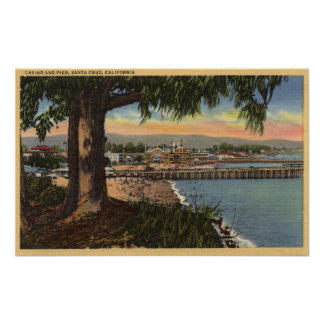 View of Casino & Pier from a Distance Poster