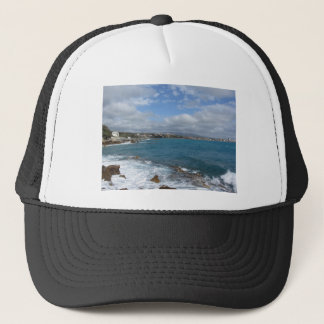 View of Castiglioncello coast near Livorno city Trucker Hat