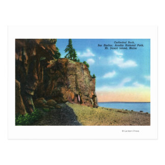 View of Cathedral Rock, Bar Harbor Postcard