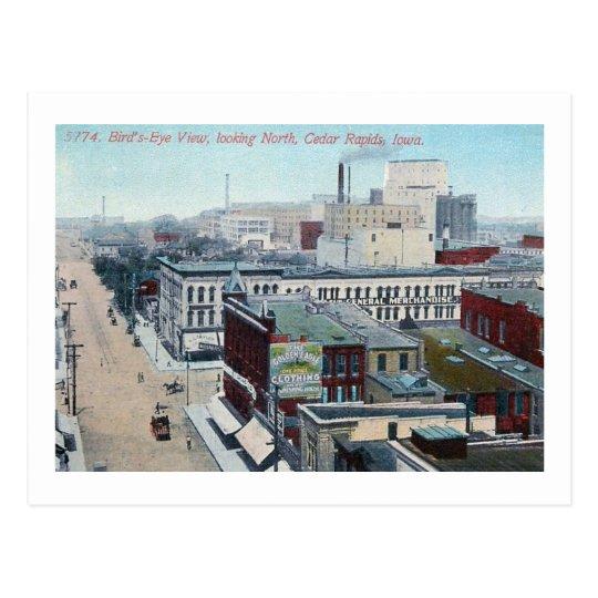 View of Cedar Rapids, Iowa 1909 Vintage Postcard