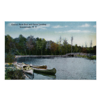 View of Central Park Boat & Canoe Landing Poster