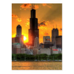 View of Chicago's skyline from  Adler Postcard