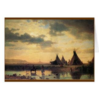 View of Chimney Rock by Albert Bierstadt Greeting Card