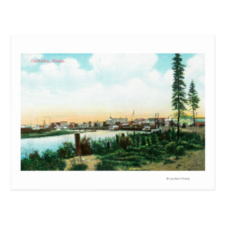 View of CityFairbanks, AK Postcard