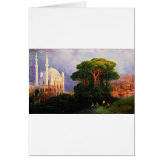 View of Constantinople by Ivan Aivazovsky Greeting Card