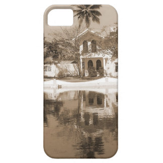 View of cottages and lagoon water in Alleppey iPhone 5/5S Covers