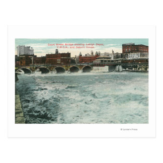 View of Court Street Bridge Showing Lehigh Postcard