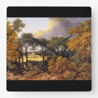 View of Dedham', Thomas Gainsborough_Landscapes Wall Clock