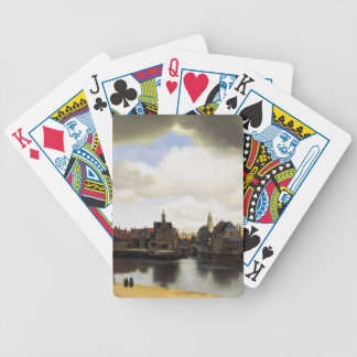 View of Delft by Johannes Vermeer Bicycle Playing Cards