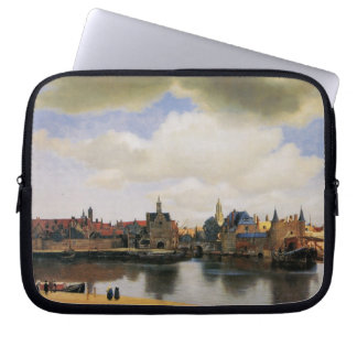 View of Delft by Johannes Vermeer Laptop Sleeve