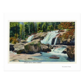 View of Diana's Bath Postcard
