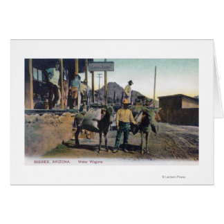 View of Donkeys Carrying WaterBisbee, AZ Greeting Card