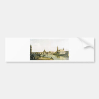 View of Dresden from the Right Bank of the Elbe Bumper Sticker