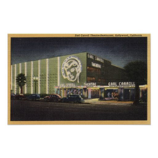 View of Earl Carroll Theatre-Restaurant Posters