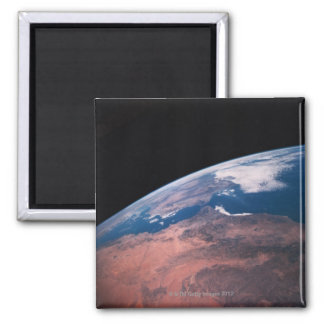 View of Earth from Space Square Magnet