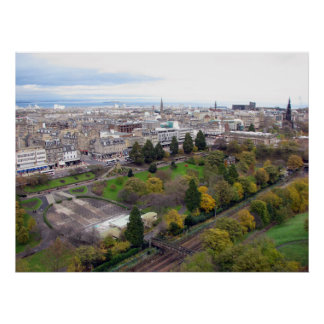 View of Edinburgh Scotland Poster