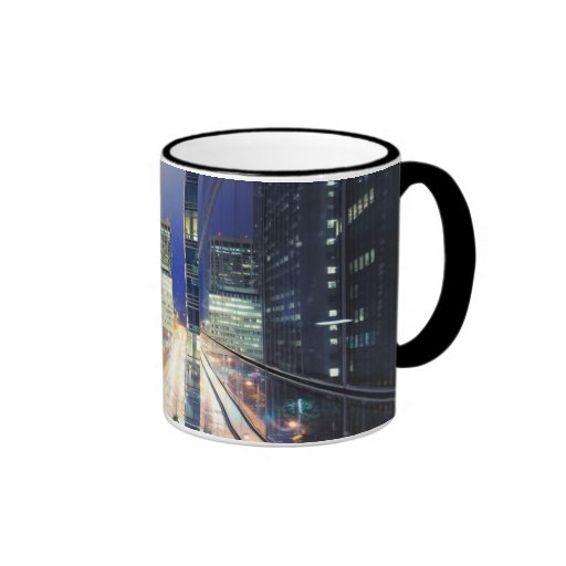 View of financial district office buildings coffee mug