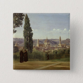 View of Florence 15 Cm Square Badge