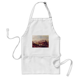 View Of Florence By Oswald Achenbach (Best Quality Apron