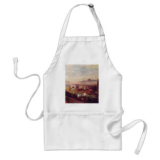 View Of Florence By Oswald Achenbach (Best Quality Aprons