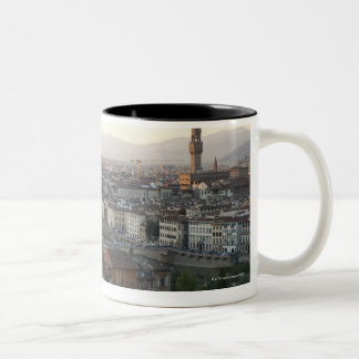 view of Florence from overlook of city showing Two-Tone Coffee Mug