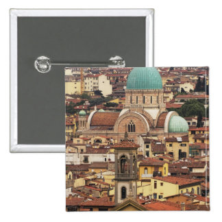 View of Florence, Italy from Piazza 15 Cm Square Badge