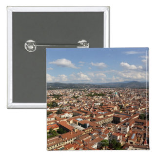 View of Florence, Italy from the top of the 2 15 Cm Square Badge