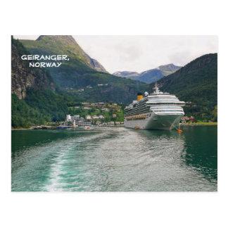View of Geiranger, Geirangerfjord, Norway Postcard