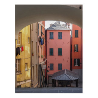 View of Genoa old town in Italy Postcard