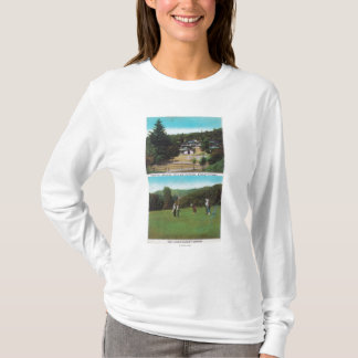View of Golf Course, Croquet Grounds, Cottages T-Shirt
