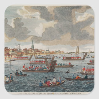 View of Gravesend with troops Square Sticker
