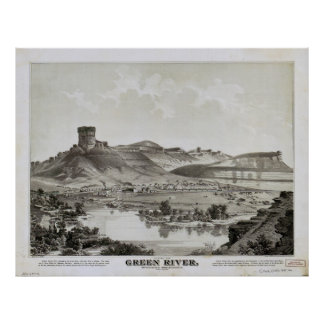 View of Green River, Wyoming Territory (1875) Poster