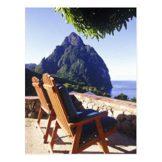 View of Gros Piton from Stonefield Estate Villa Postcard
