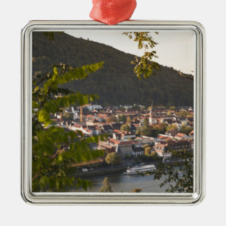 View of Heidelberg's Old Town Silver-Colored Square Decoration