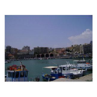 View of Heraklion, Crete seaport Postcard