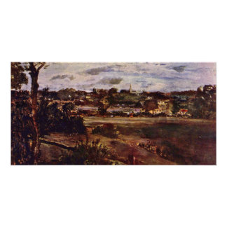 View Of Highgate By Constable John (Best Quality) Personalized Photo Card