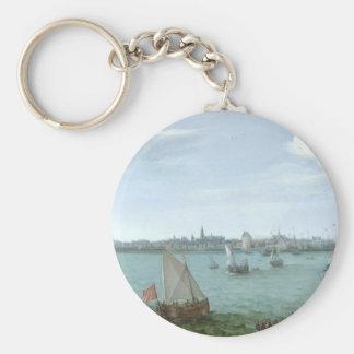View of Hoorn: Hendrick Cornelisz Vroom Key Ring