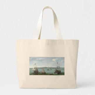 View of Hoorn: Hendrick Cornelisz Vroom Large Tote Bag