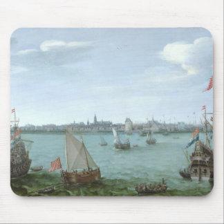 View of Hoorn: Hendrick Cornelisz Vroom Mouse Pad