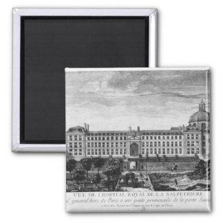 View of Hopital Royal de La Salpetriere Square Magnet