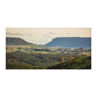View of Horahora Bluffs from Rotorua Redwoods Canvas Print