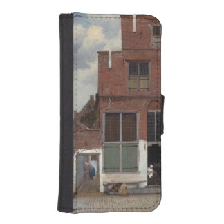 View of houses in Delft by Johannes Vermeer iPhone 5 Wallet