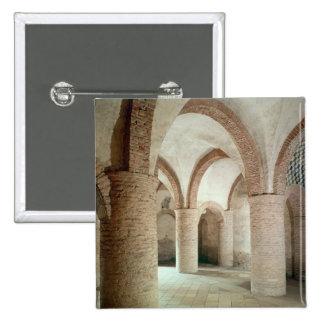 View of interior 15 cm square badge