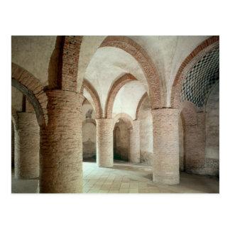 View of interior postcard