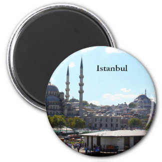 View of Istanbul 6 Cm Round Magnet