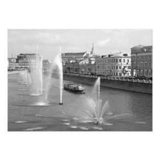 View of Kadashevskaya embankment of Moscow Photo Print