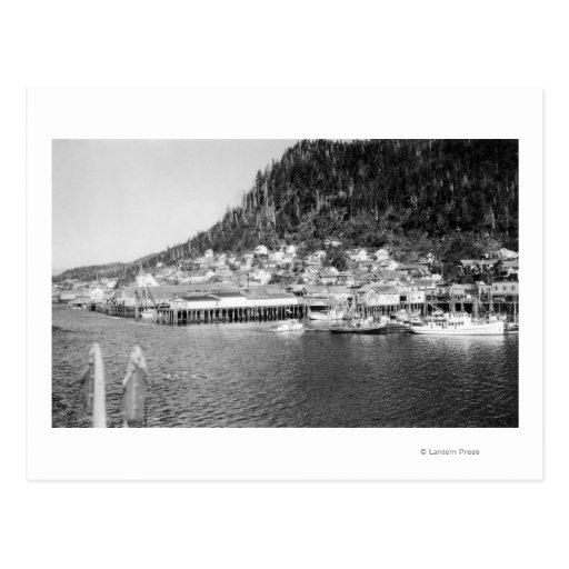 View of Ketchikan, Alaska Waterfront Photograph Post Cards