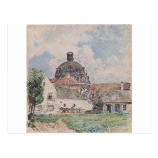 View of Klosterneuburg by Rudolf von Alt Postcard