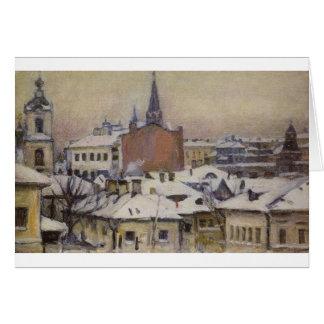 View of Kremlin by Vasily Surikov Greeting Card